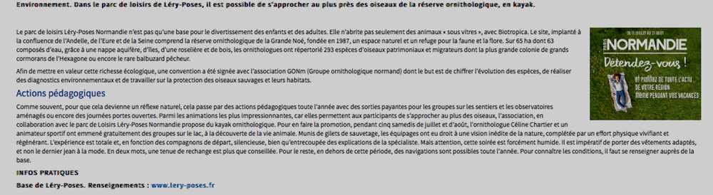 Le texte de l'article en plus grand.