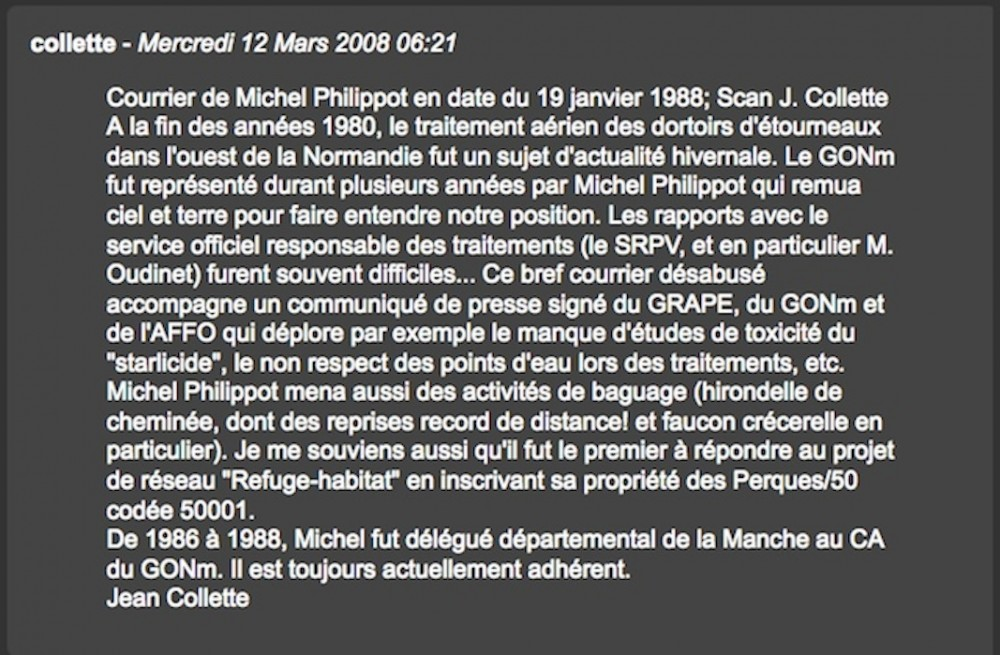 Commentaire J Collette en date du 12 mars 2008.