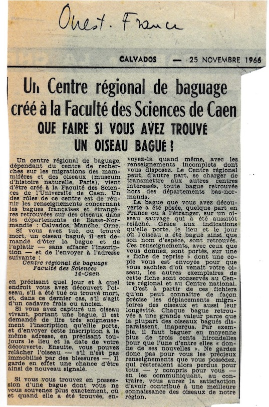 """Ouest-France"", noté de sa main par B Braillon"