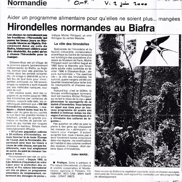Ouest-France, page  Normandie, 2 juin 2000