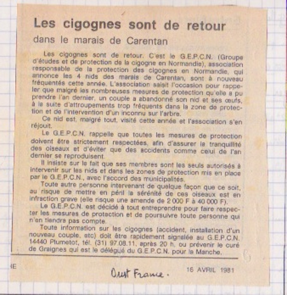 Ouest-France, 16 avril 1981-