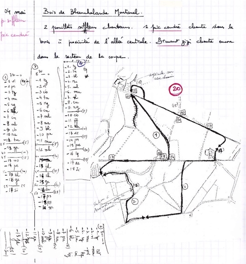 Notes du 4 mai 1999. Cahier n°16 page 36. Jean Collette.