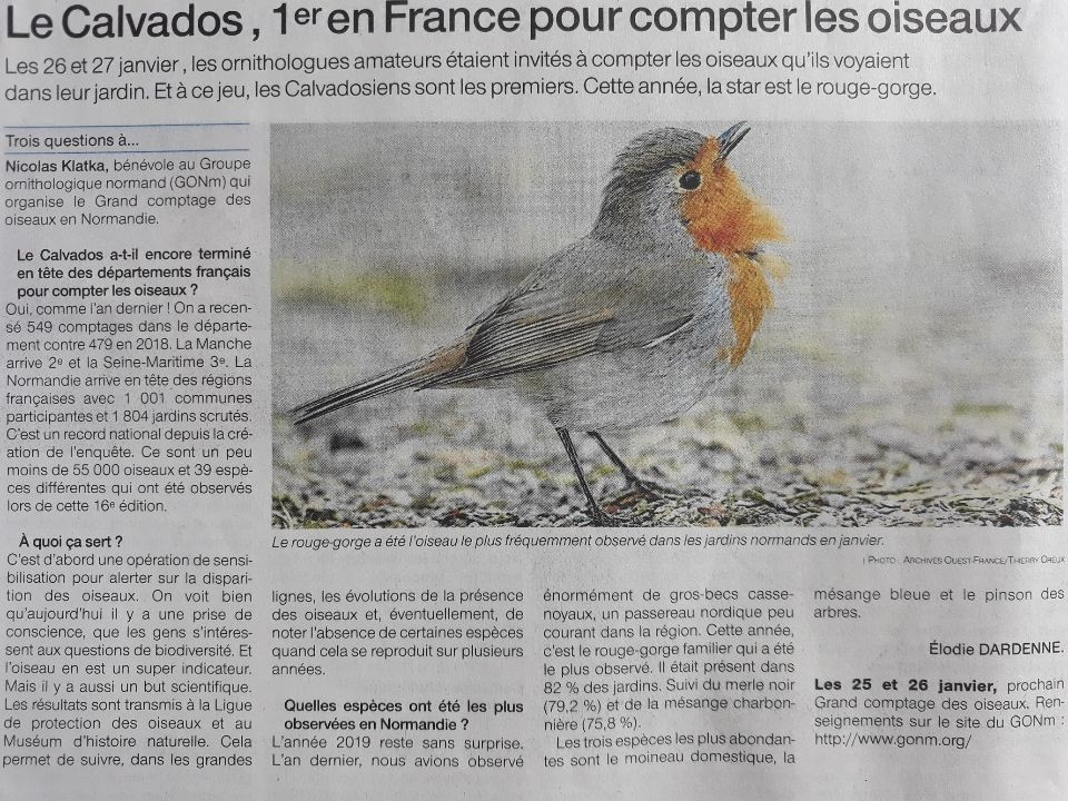 Ouest-France Calvados12_10_2019