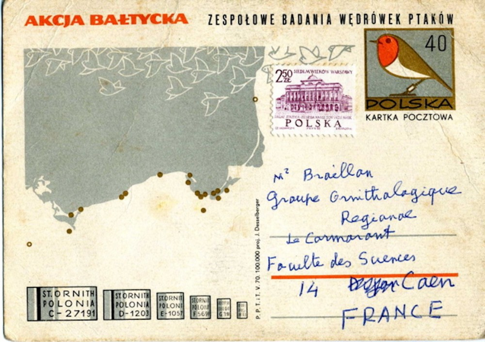 carte postale de Laurent Yeatman. Document extrait des archives du GONm.